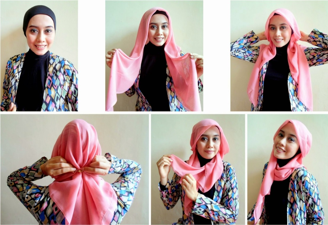 Tutorial Jilbab Hijab Segi Empat Pesta Pernikahan Tutorial