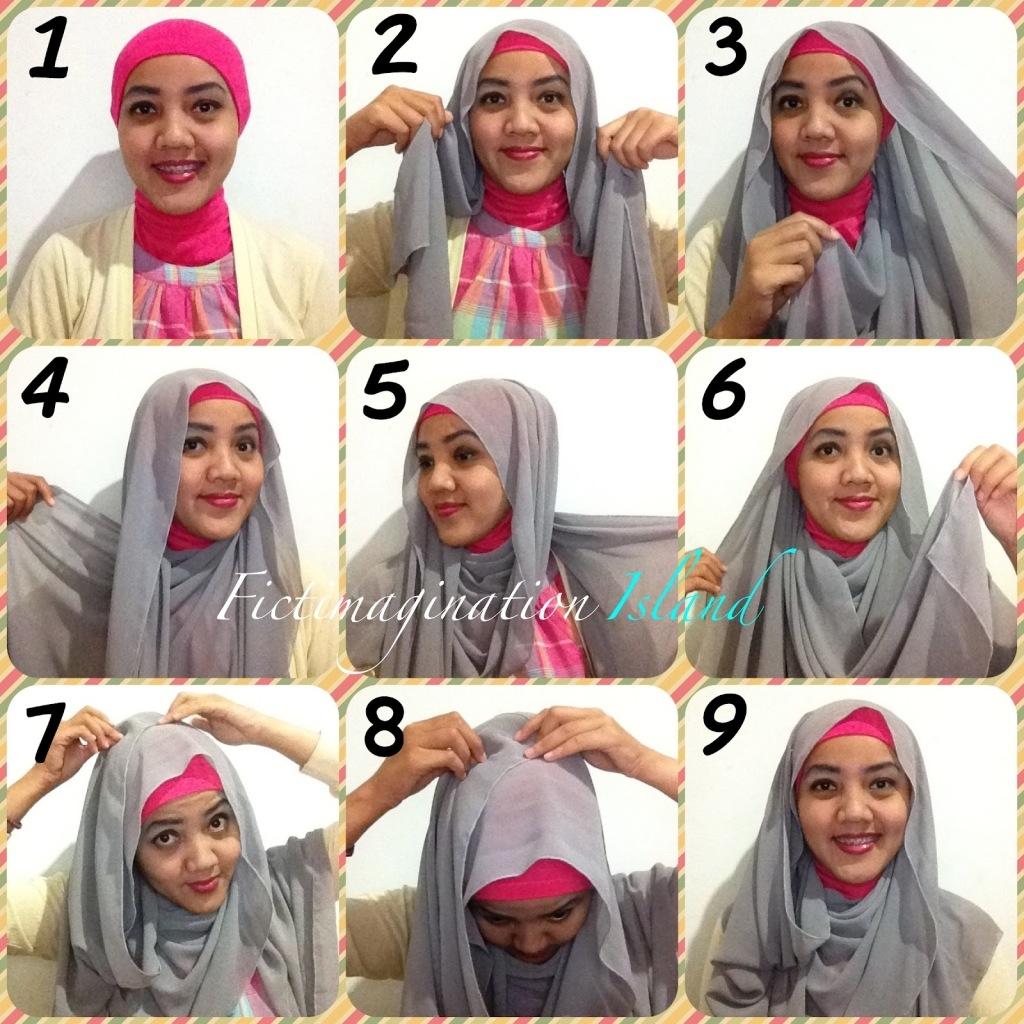Tutorial Hijab Terbaru Tutorial Hijab Pashmina Wajah Bulat